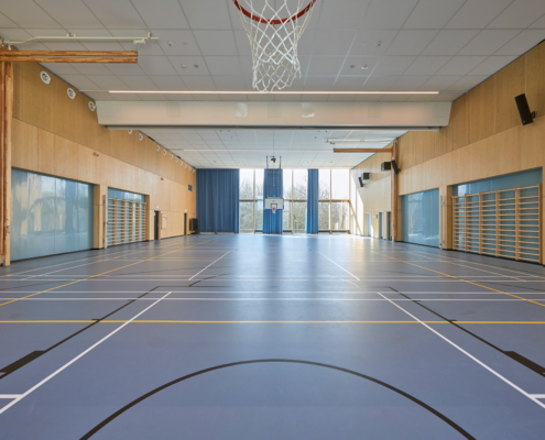 In-Sign akustik i Bellahoj skole gymnastiksal